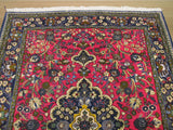 Pink Traditional Qum Rug, 3'8 x 4'8