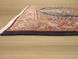 Navy Traditional Kerman Rug, 3'8 x 5'2