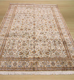 Ivory Traditional Tabriz Rug, 6' x 9'2