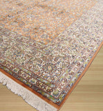 Peach Traditional Tabriz Rug, 6'1 x 9'1