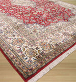 Red Traditional Tabriz Rug, 5'6 x 8'3