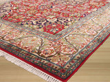 Red Traditional Qum Rug, 4' x 6'6