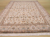 Ivory Traditional Kashmir Rug, 6'2 x 8'9