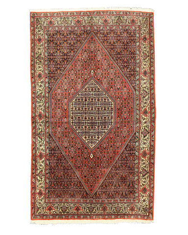 Hand-knotted Wool Rust Traditional Oriental Bidjar Rug (5'3 x 9')