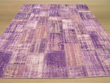 Purple Transitional Turkish Patch Rug, 8'6 x 10'4