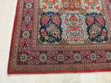 Multicolored Traditional Qum Rug, 3'2 x 5'2