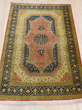 Rust Traditional Qum Rug, 2'5 x 4'0