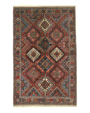 Hand-knotted Wool Red Traditional Oriental Yalameh Rug (6'0 x 8'0)