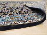 Blue Traditional Esfahan Rug, 2'5 x 3'2