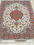 Ivory Traditional Tabriz Rug, 3'3 x 5'