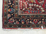 Red Traditional Sarouk Rug, 3' 3 x 4' 9