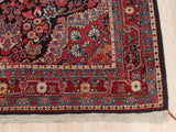 Navy Traditional Yalameh Rug, 3' 4 x 5' 3