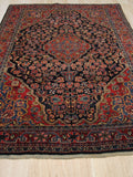 Navy Traditional Sarouk Rug, 4'3 x 6'8