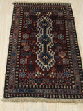 Rust Traditional Yalameh Rug, 1' 8 x 2'11