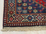 Rust Traditional Yalameh Rug, 3' 4 x 4' 9