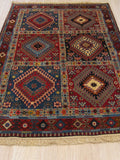Rust Traditional Yalameh Rug, 3' 4 x 4'11