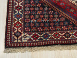 Red Traditional Yalameh Rug, 5' x 6' 7