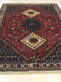Red Traditional Yalameh Rug, 5' x 6' 8