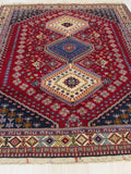 Red Traditional Yalameh Rug, 5' 1 x 6' 8