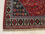 Red Traditional Yalameh Rug, 5' 4 x 6' 5