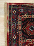 Navy Traditional Yalameh Rug, 5' 1 x 7'11