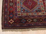 Rust Traditional Yalameh Rug, 5' 7 x 8'