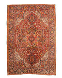 Red Traditional Heriz Rug, 8' x 11' 4