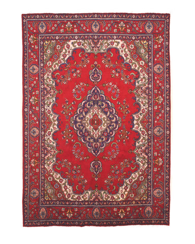 Red Traditional TABRIZ Rug, 8' x 11' 4