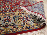 Red Traditional Esfahan Rug, 3' x 5'
