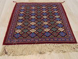 Red Traditional Kashan Rug, 2' x 2'6