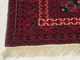 Red Traditional Baluchi Rug, 3' 3 x 4' 3