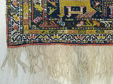 Yellow Traditional Kafkazi Rug, 3'3 x 7' 9