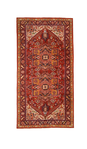 Hand-knotted Wool Red Traditional Oriental Heriz Rug