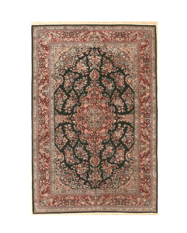 Hand-knotted Wool Black Traditional Oriental Sino Persian Rug