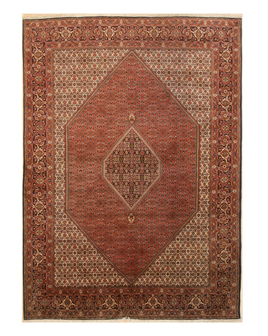 Hand-knotted Wool Rust Traditional Oriental Bidjar Rug