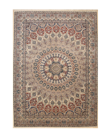 Hand-knotted Wool Ivory Traditional Oriental Naiin Rug