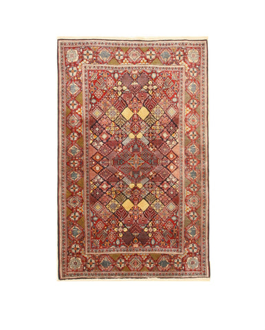 Hand-knotted Wool Blue Traditional Oriental Mei-Mei Rug