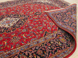 Red Traditional Shadsar-Kashan Rug