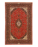 Red Traditional Oriental Shadsar-Kashan Rug