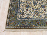 Ivory Traditional Kashan Rug