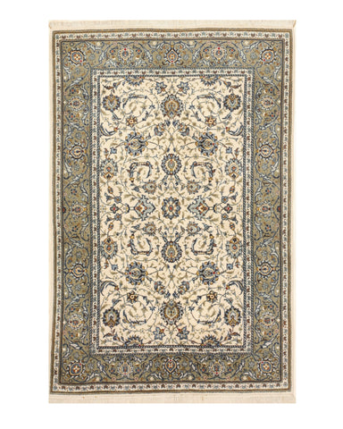Ivory Traditional Oriental Kashan Rug