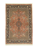Hand-knotted Wool Rust Traditional Oriental Agra Rug (3' x 6'3)