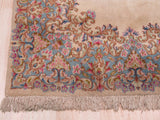 Ivory Traditional Kerman Rug, 3'11 x 7'1