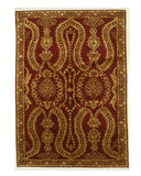 Hand-knotted Wool Red Traditional Oriental Indo-Nepal Rug (6'3 x 9')