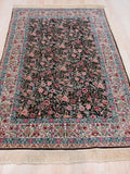 Black Traditional Sino-Persian Rug, 4'2 x 6'4