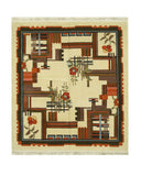Ivory Traditional Modern Bucharest Rug, 6'6 x 7'3