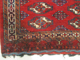 Red Traditional Khorjin Bokhara Saddlebag Rug, 2'5 x 4'