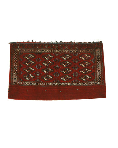 Hand-knotted Wool Red Traditional Oriental Khorjin Bokhara Saddlebag Rug (2'5 x 4')