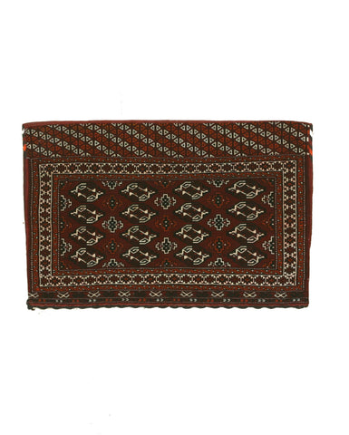 Hand-knotted Wool Red Traditional Oriental Khorjin Bokhara Saddlebag Rug (2'1 x 3'5)