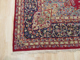 Red Traditional Kerman Rug, 11'5 x 16'2